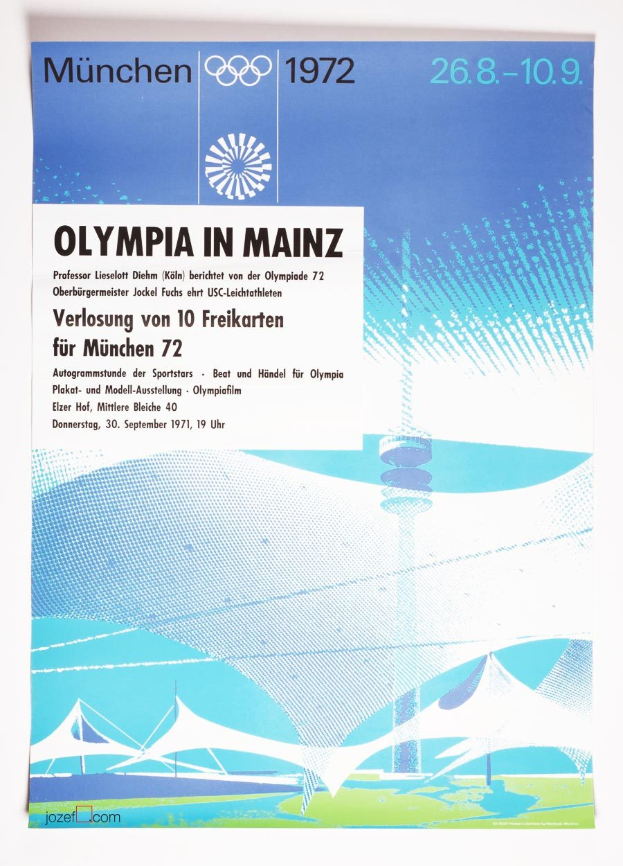 Otl Aicher, Munich Olympic stadium poster
