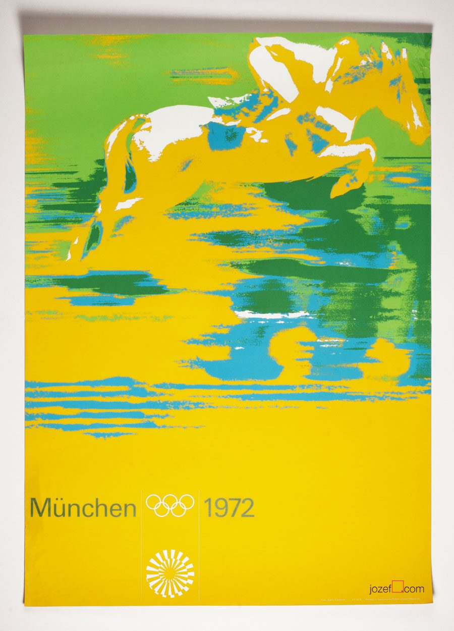 munich olympics horse racing poster otl aicher. Black Bedroom Furniture Sets. Home Design Ideas