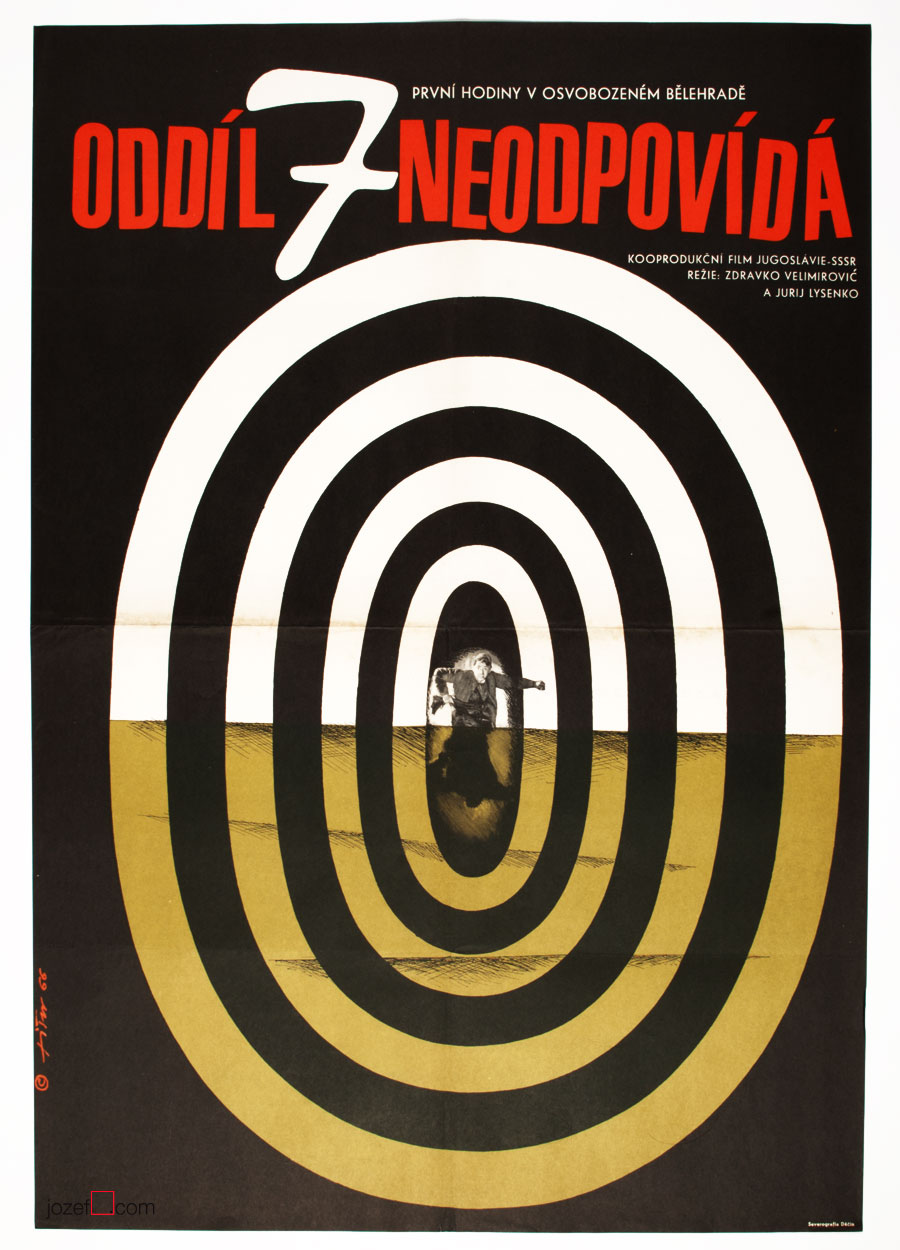 Vintage Movie Poster design by Jaroslav Fišer.