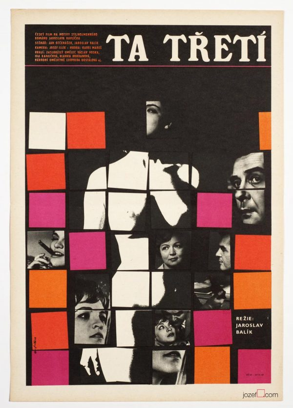 Movie Poster, Jaroslav Fiser, 60s Cinema Art