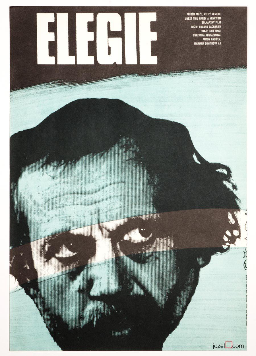Movie Poster, Elegy, 70s Minimalist Cinema Art