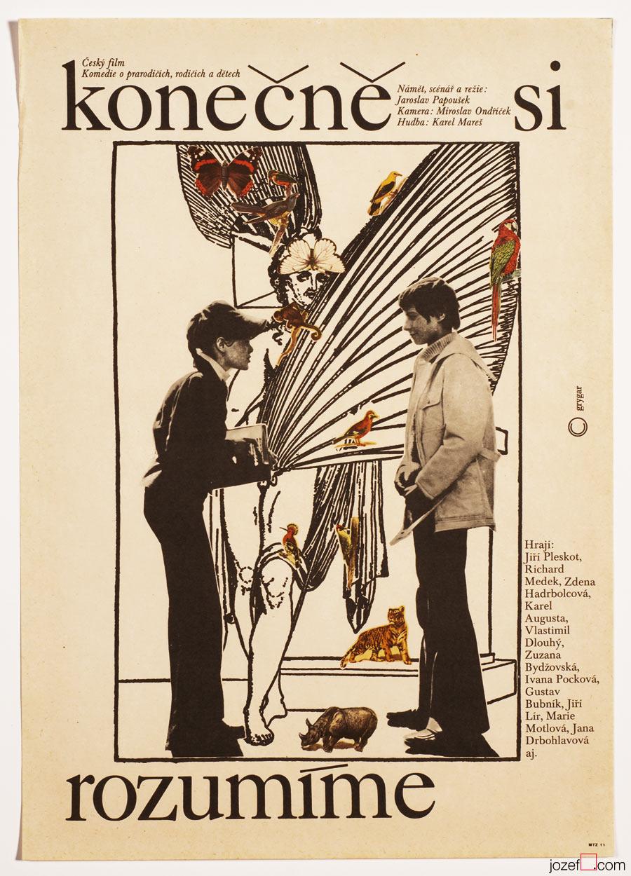 Collage poster design Milan Grygar