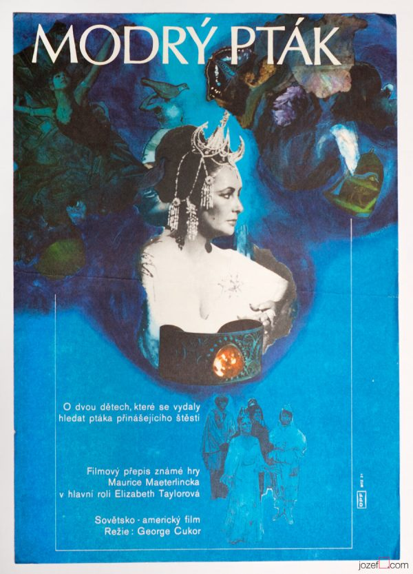 The Blue Bird Movie Poster, Elizabeth Taylor