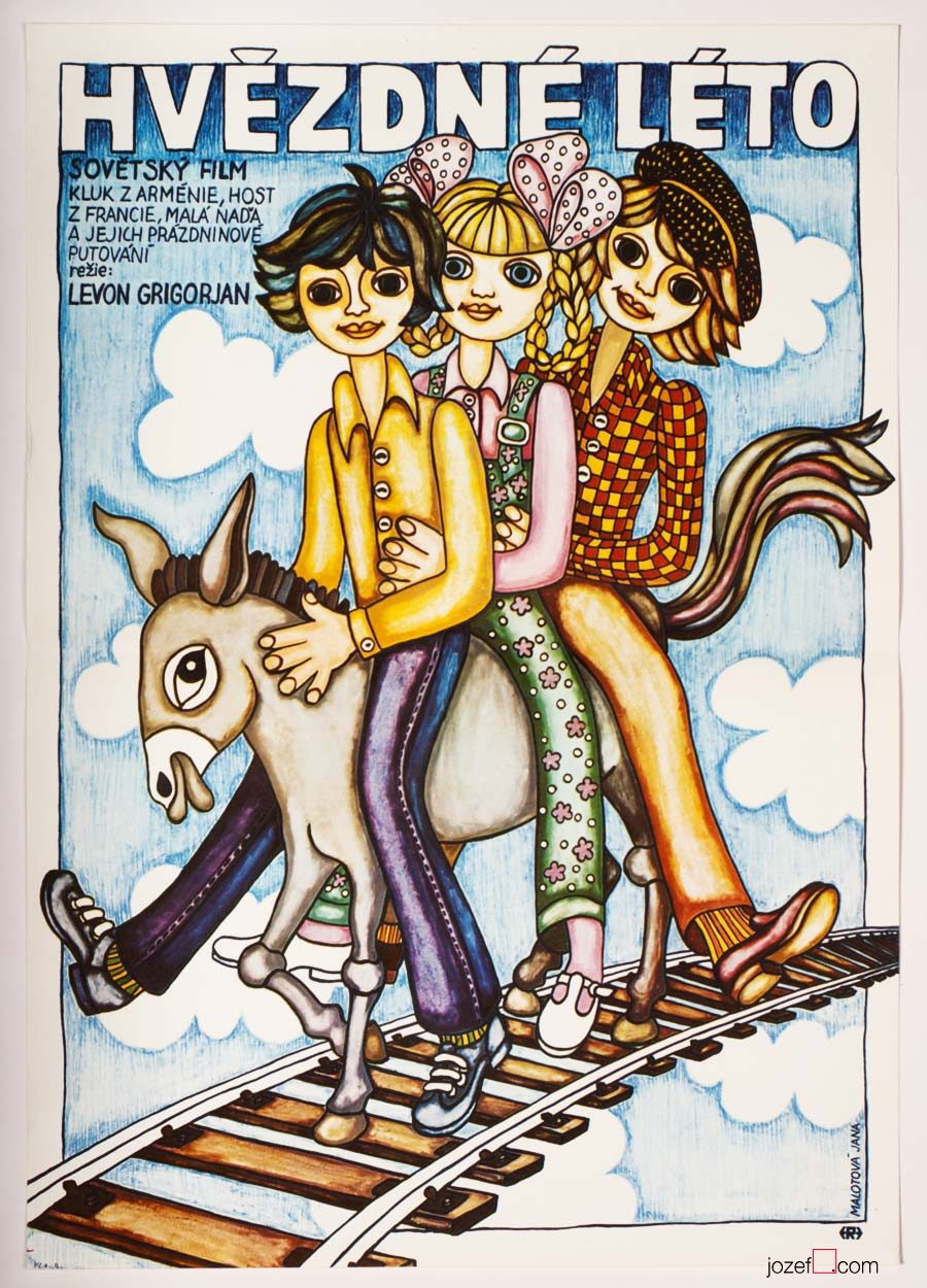 Kids movie poster, 1980s Poster Design
