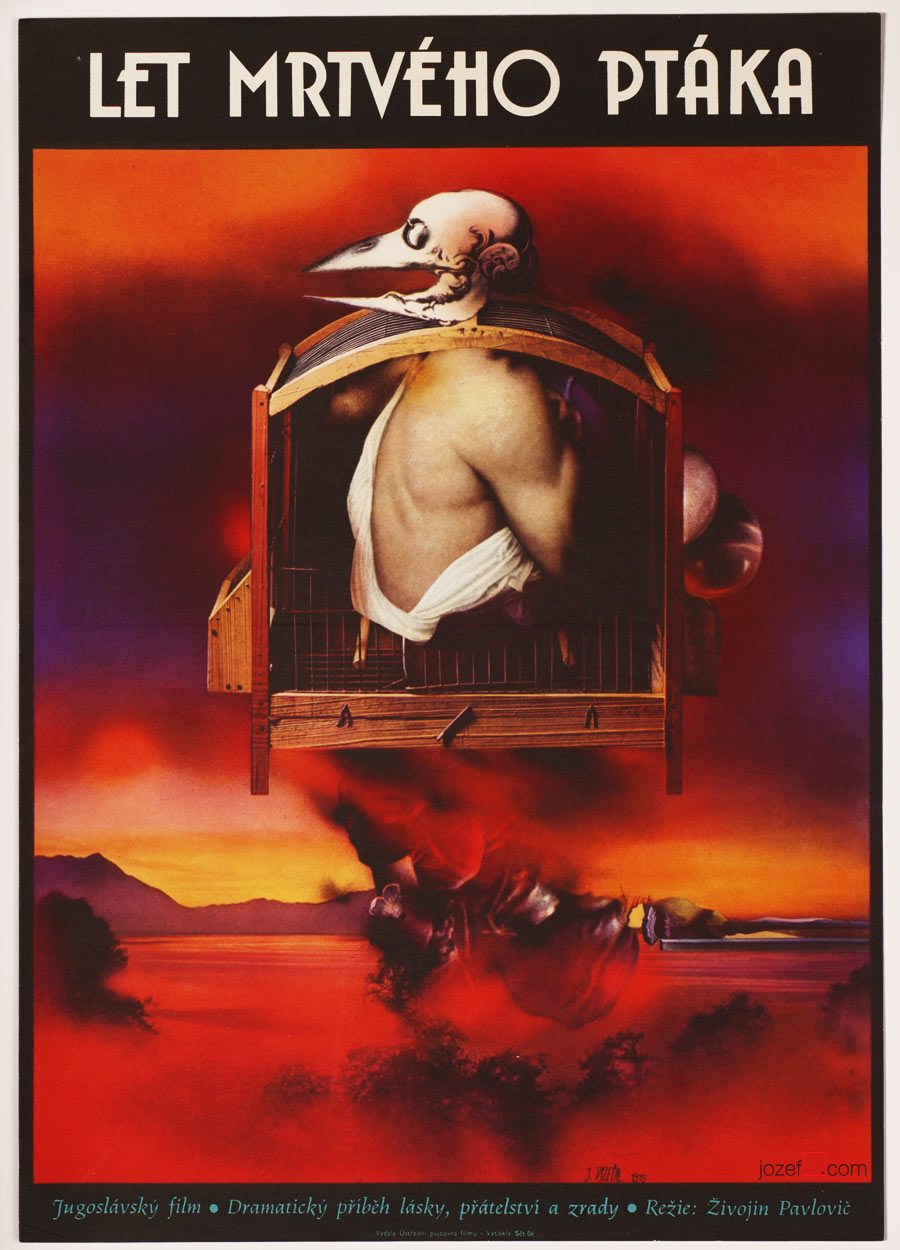 Movie Poster, Flight of a Dead Bird, surreal poster