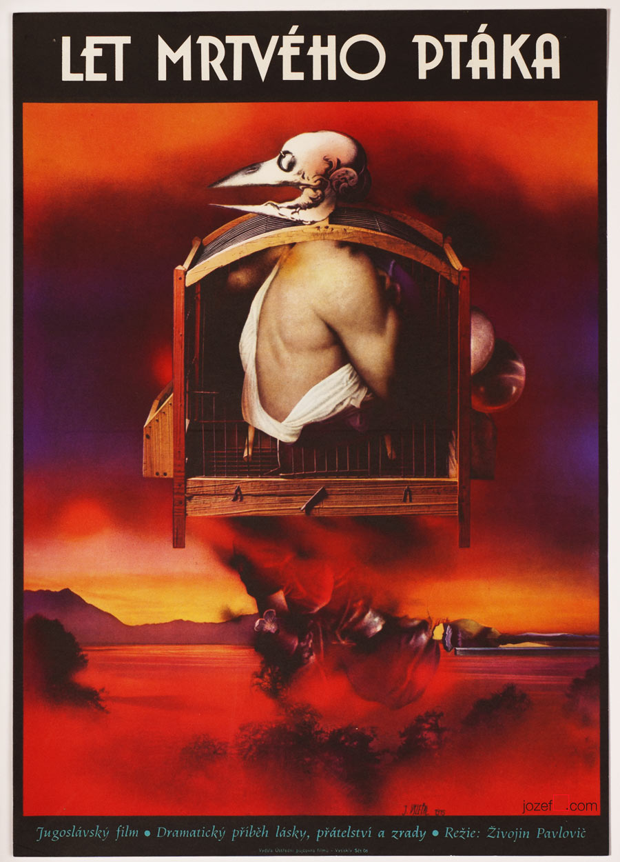 Movie Poster, Flight of a Dead Bird, Surreal Artwork