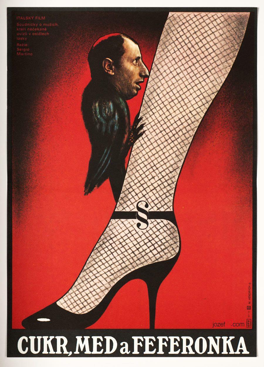 Vintage Movie Poster, Italian comedy