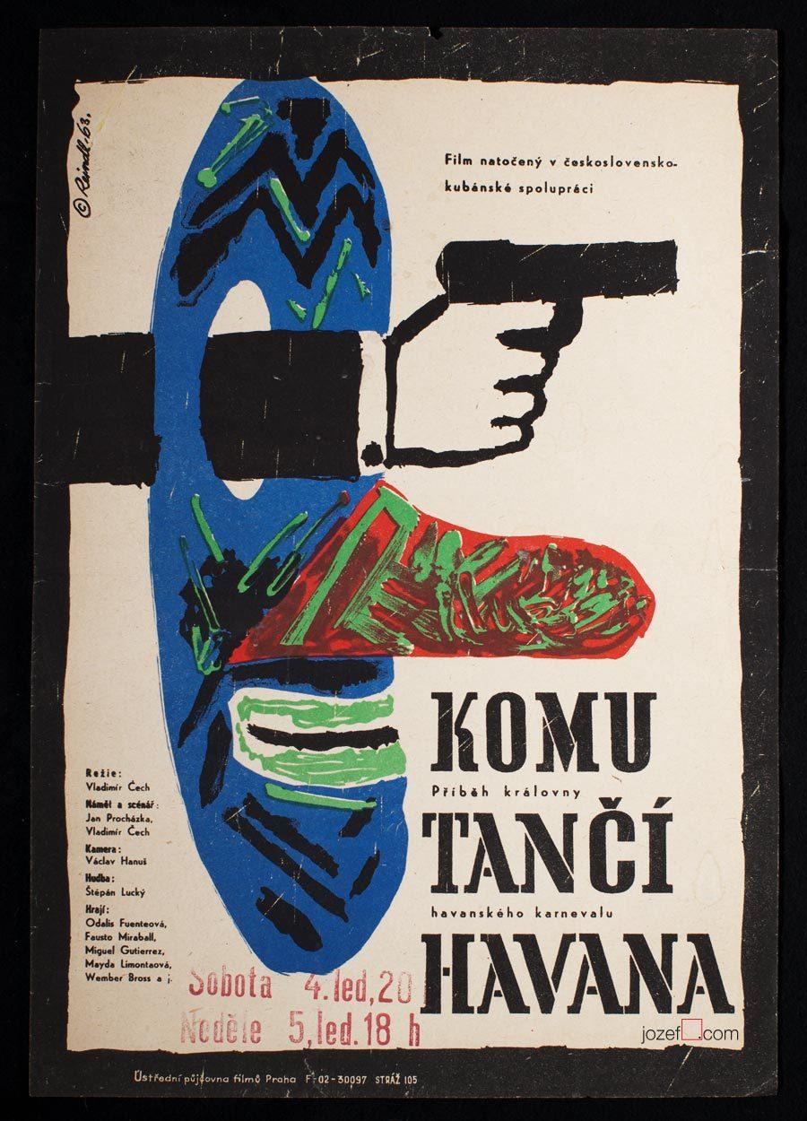 Movie Poster, Rare 60s Cinema Art