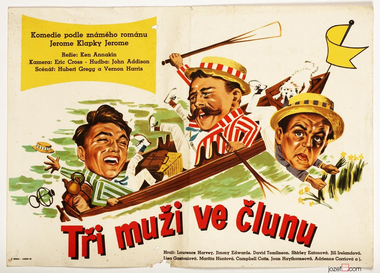 Three Men in a Boat, Vintage Movie Poster