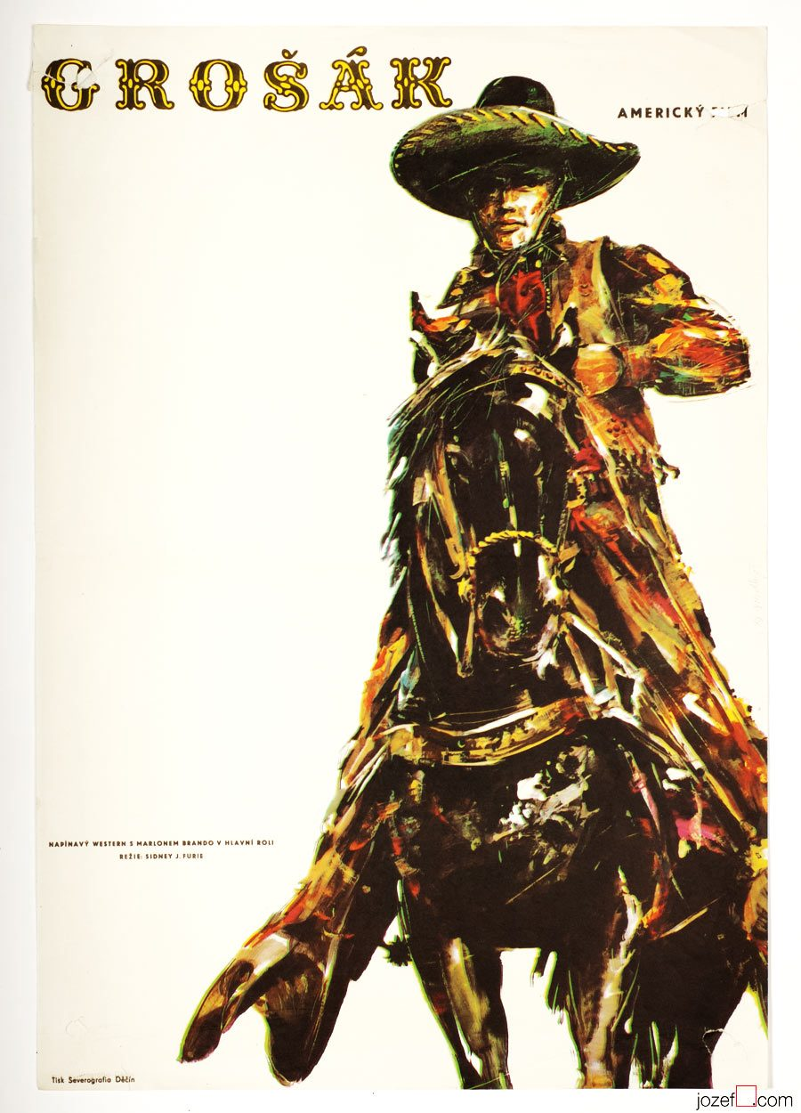 The Appaloosa, Movie Poster, 70s Poster Art