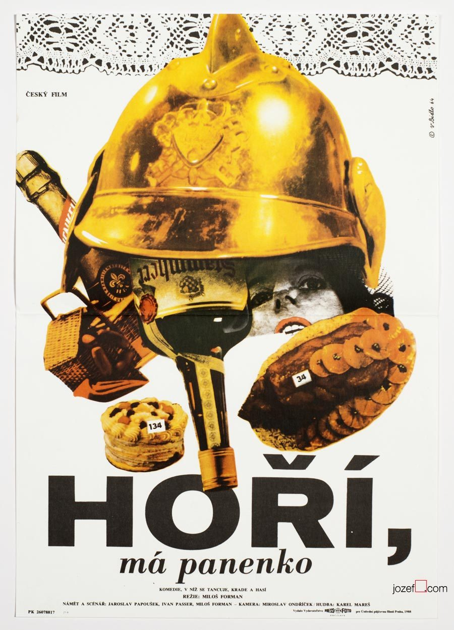 The Firemen's Ball, 1960s Poster Design