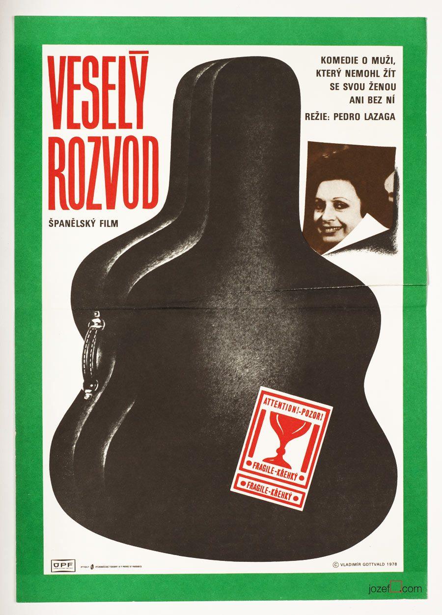 El Alegre Divorciado, 1970s movie poster