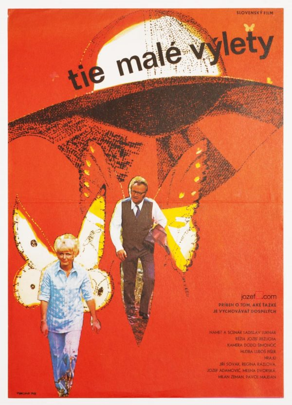 Vintage Movie Poster, 1970s Collage Poster