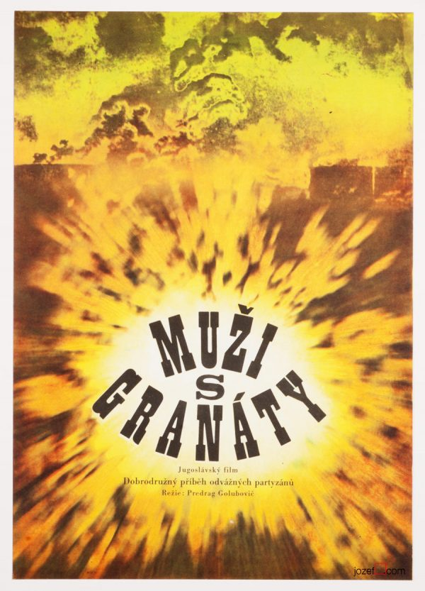 Abstract movie poster, Men with Grenades
