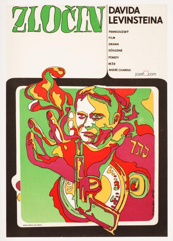 The Crime of David Levinstein, Vintage Movie Poster