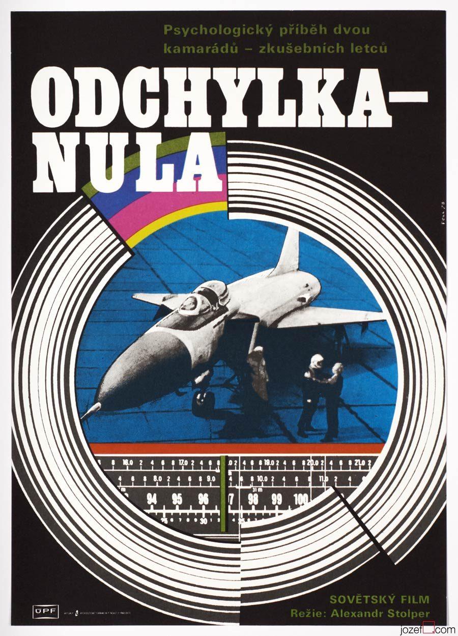 Vintage movie poster Slope Zero, Poster Art Dobroslav Foll
