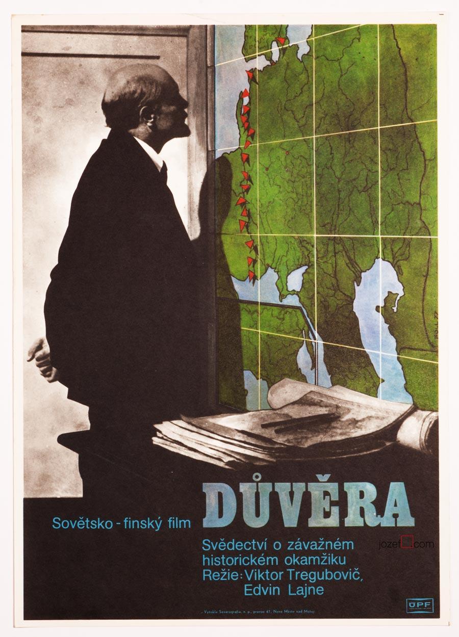 Vintage Movie Poster, Trust. Poster Design by Dobroslav Foll.
