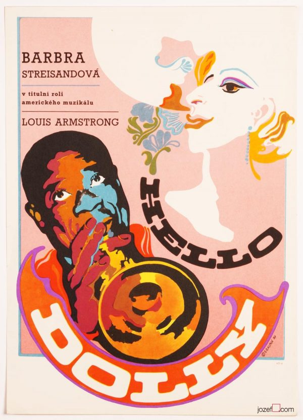 Hello Dolly Poster, 1970s Cinema Art