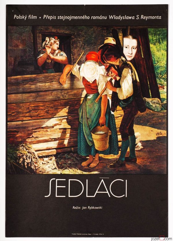 Collage poster, Peasants, Josef Vyleťal
