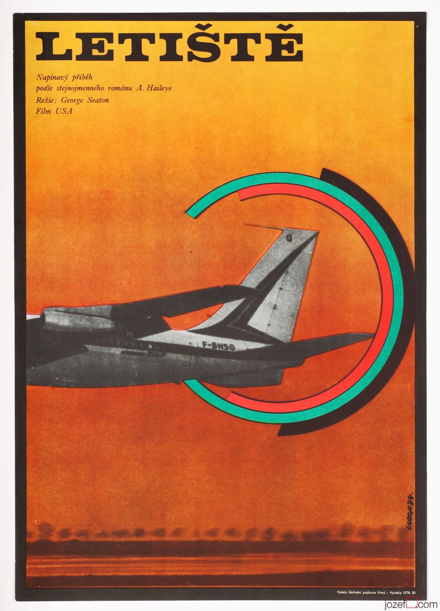 Minimalist Movie Poster, Airport, Poster Art by Karel Vaca