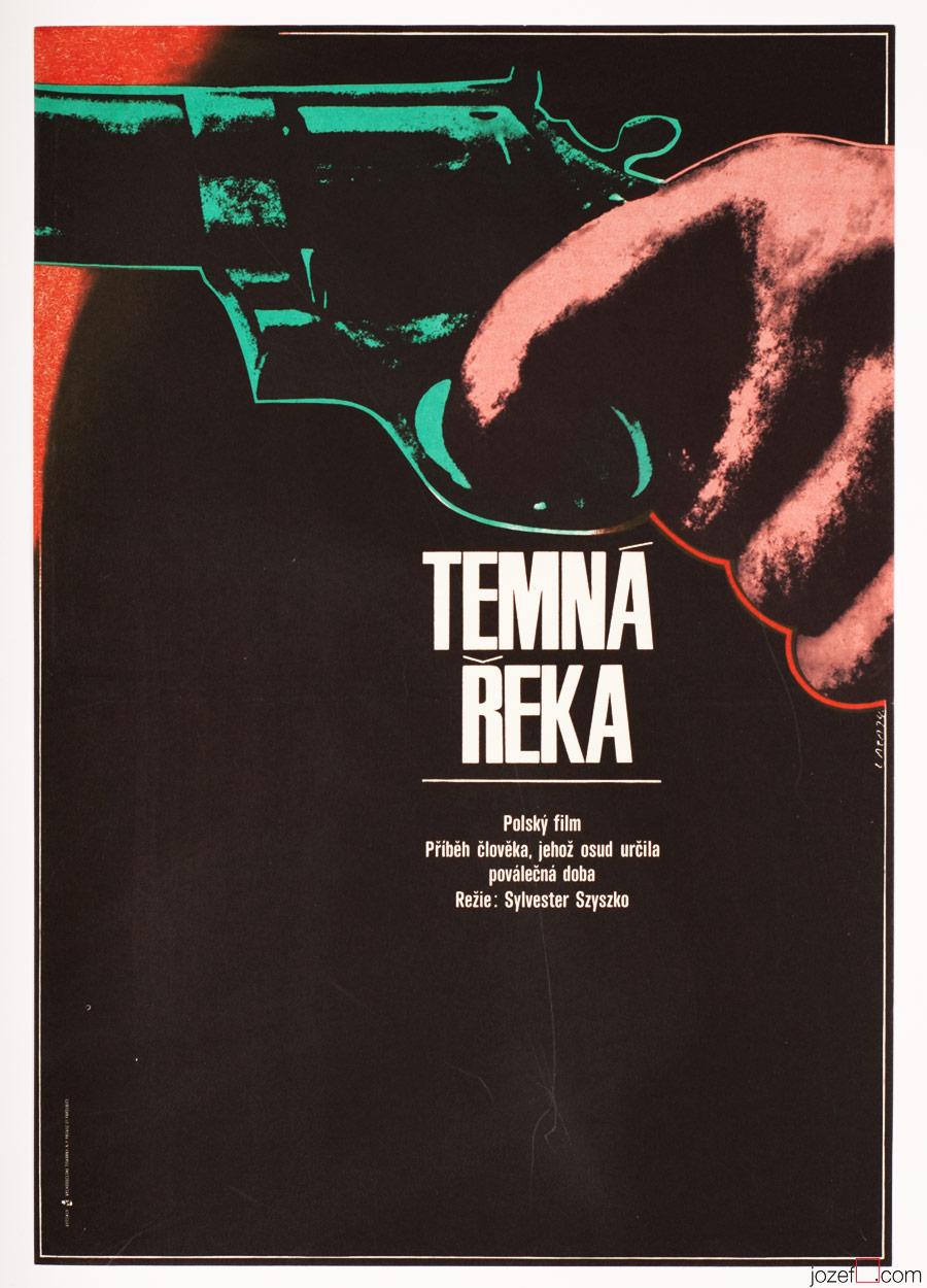 Dark River Movie Poster, 1970s Poster Art, Karel Vaca