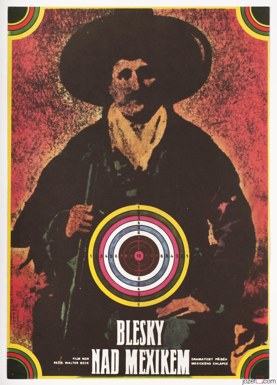 Western Movie Poster - Death for Zapata, Poster Art by Karel Vaca.