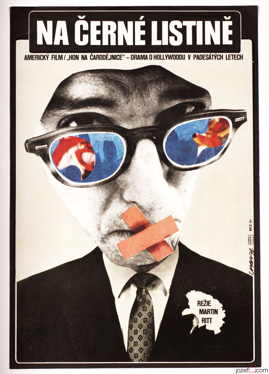 The Front / Woody Allen, movie poster by Karel Vaca.