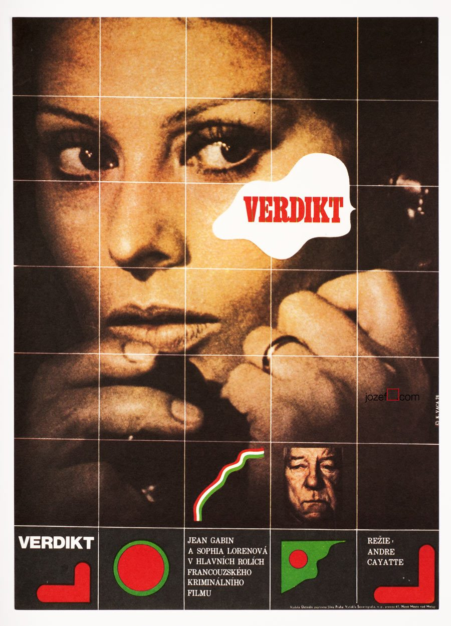 Vintage Movie Poster, The Verdict, Poster Design Karel Vaca.