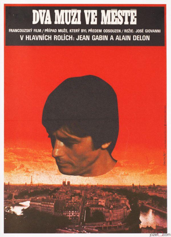 Surreal Movie Poster, Two Men in Town, Karel Vaca