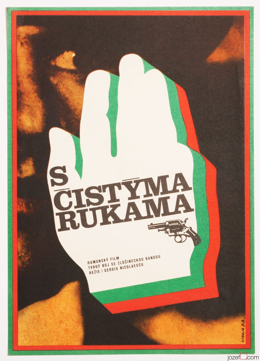 1970s Movie Poster, With Clean Hands, Karel Vaca