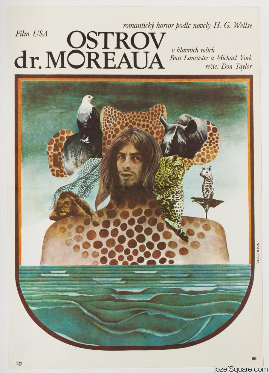The Island of Dr. Moreau Movie Poster, H.G. Wells