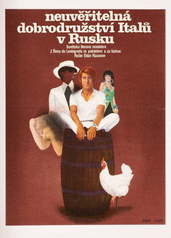 70s movie poster, Excellent 70s Poster Art by Zdeněk Vlach