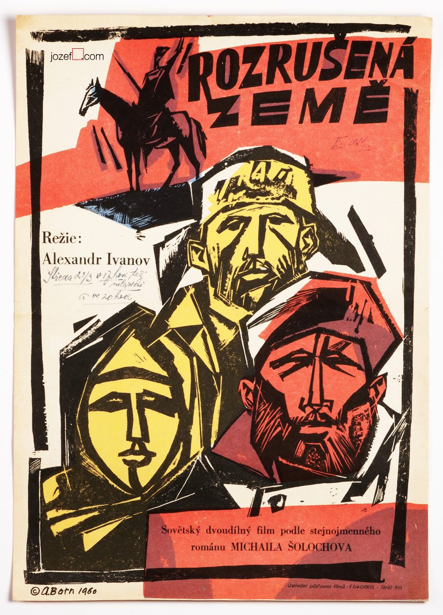 Film poster, Adolf Born, 60s poster design