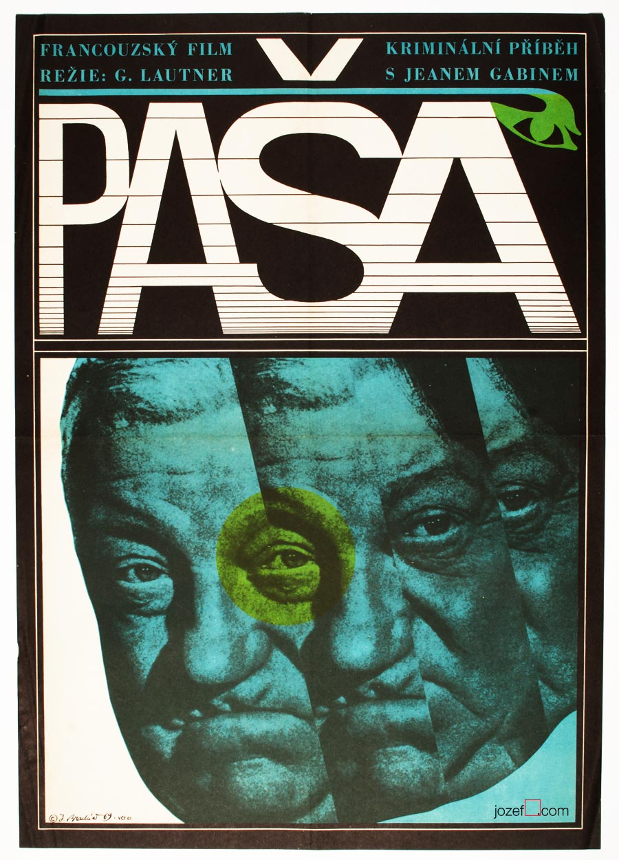 Pasha Movie Poster, 60s Cinema Art