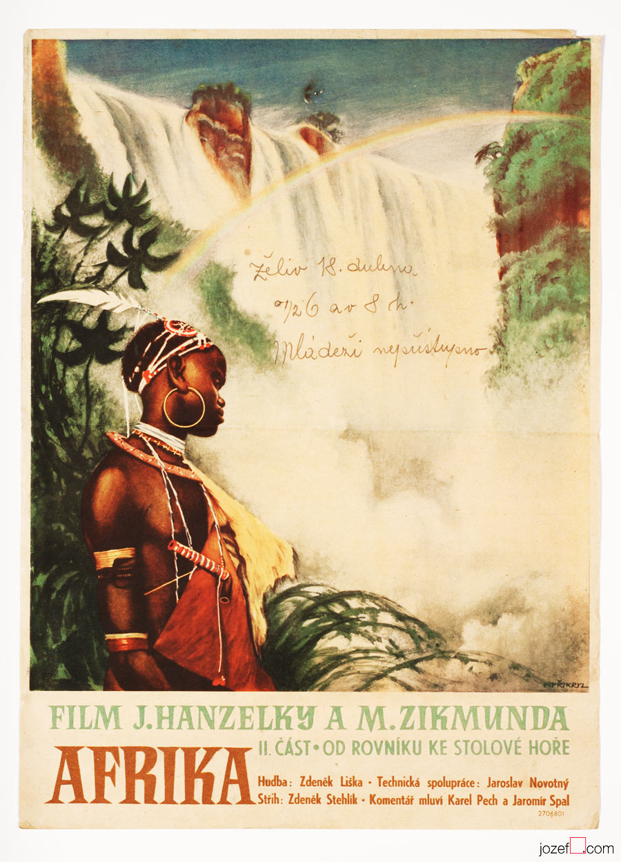 50s Film Poster, Africa, Vintage poster art