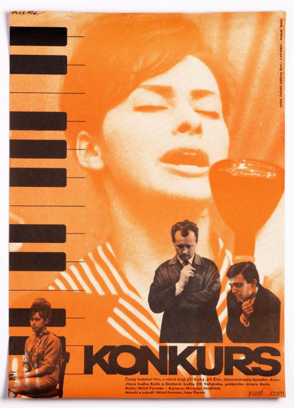Film Poster, Audition, Milos Forman, 60s Cinema Art