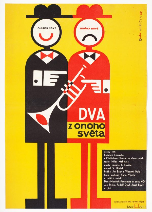 60s Movie Poster, Two Men from Another World