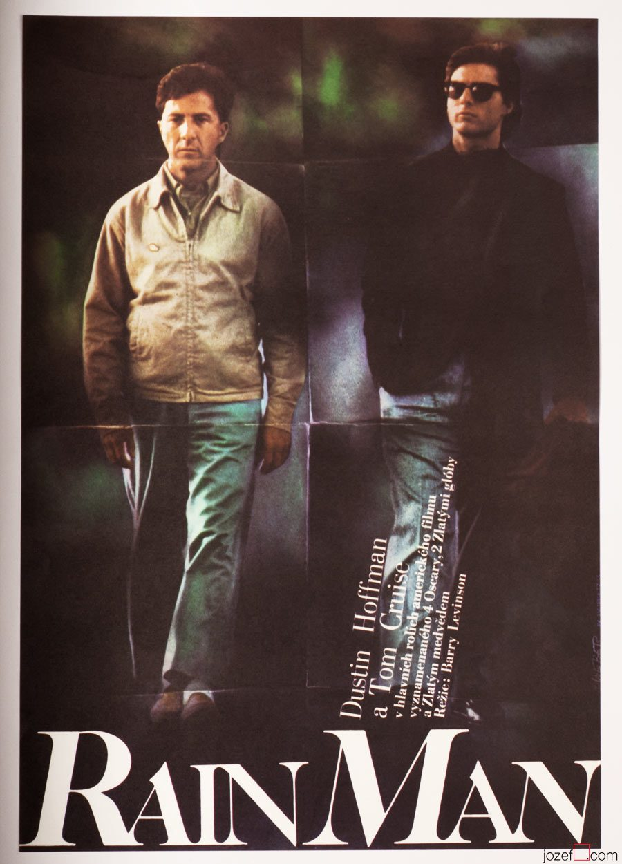 Rain Man Movie Poster, 1980s Poster, Graphic Design, Jan Weber