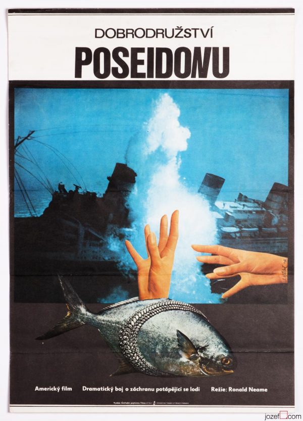 Collage Poster, The Poseidon Adventure, 1970s Movie Poster