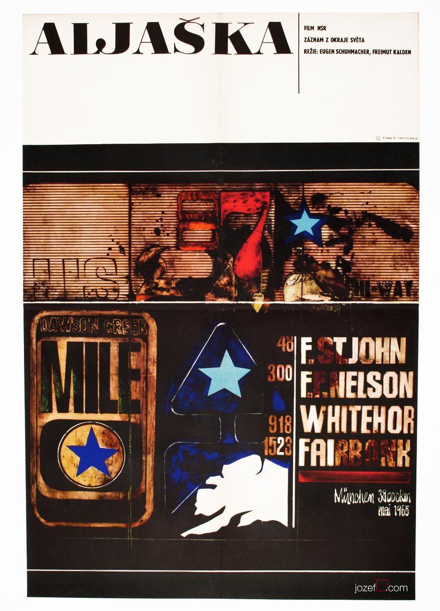 Alaska Movie Poster, Zdenek Kaplan Artwork