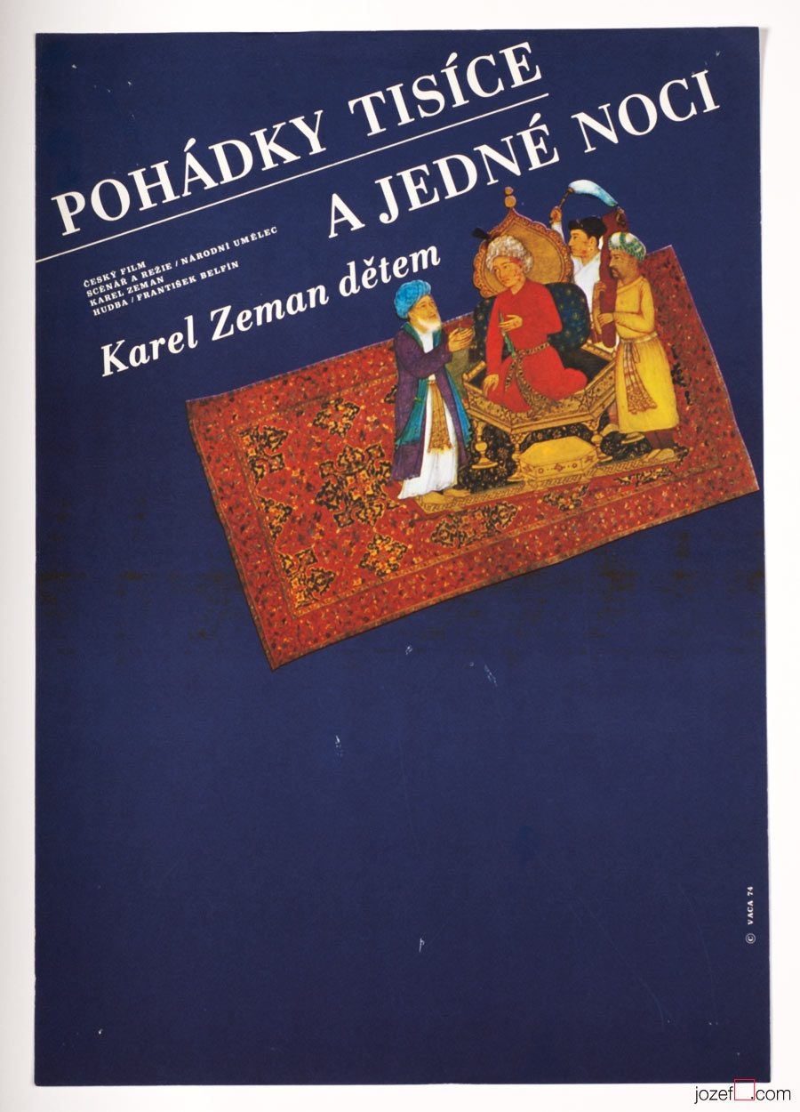 Kids Poster, One Thousand and One Nights, Design by Karel Vaca