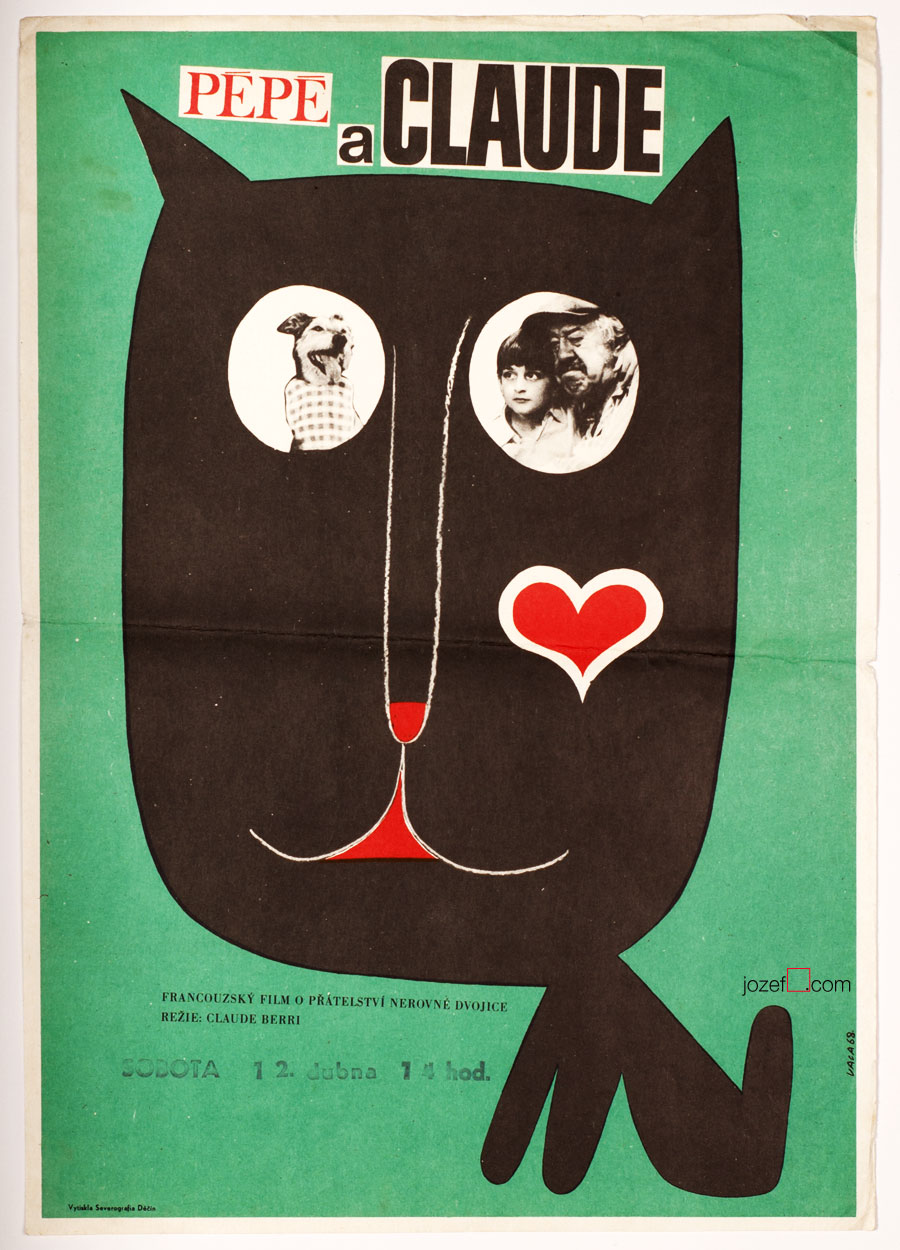 Wonderful movie poster The Two of Us / Le vieil homme et l'enfant.