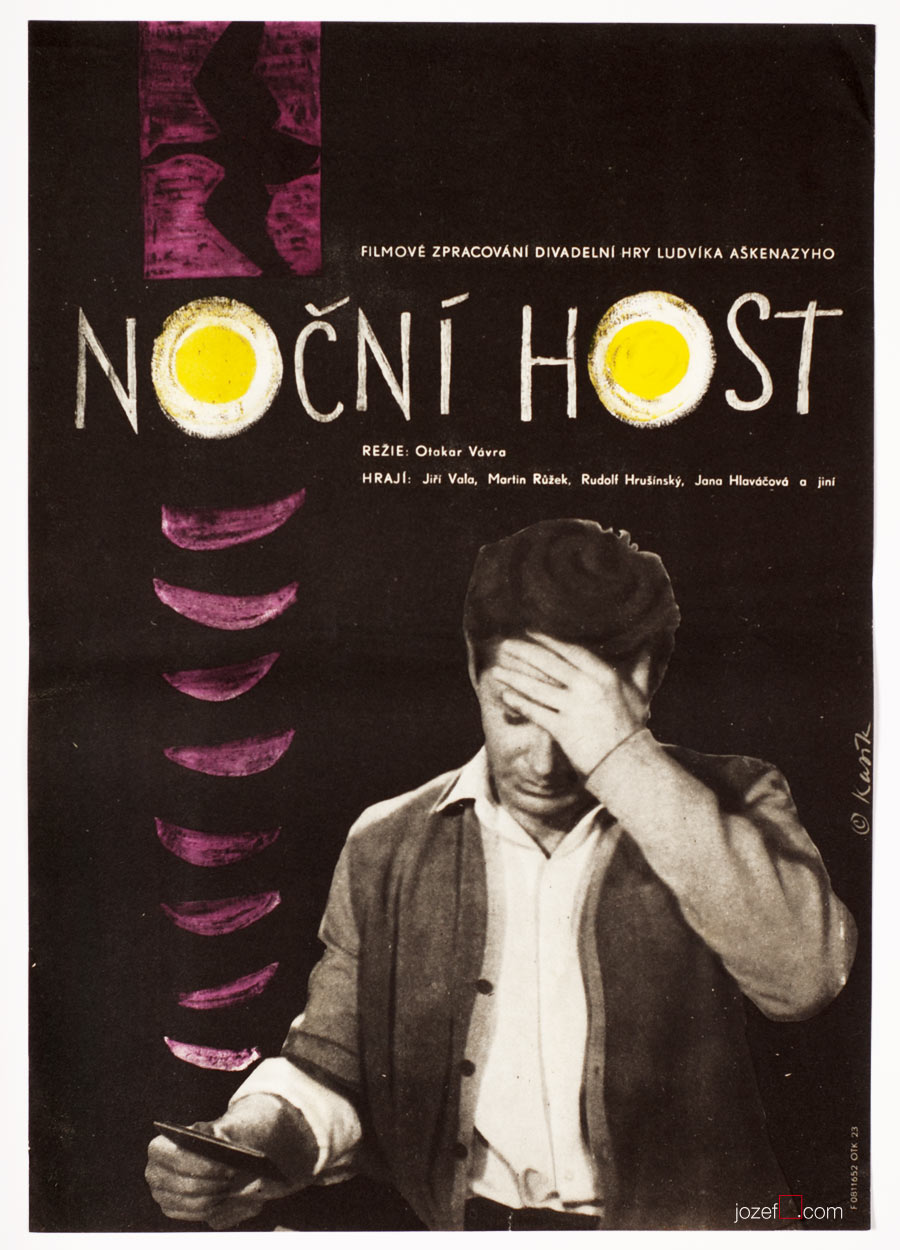 Film poster, Night Guest, 60s Graphic art