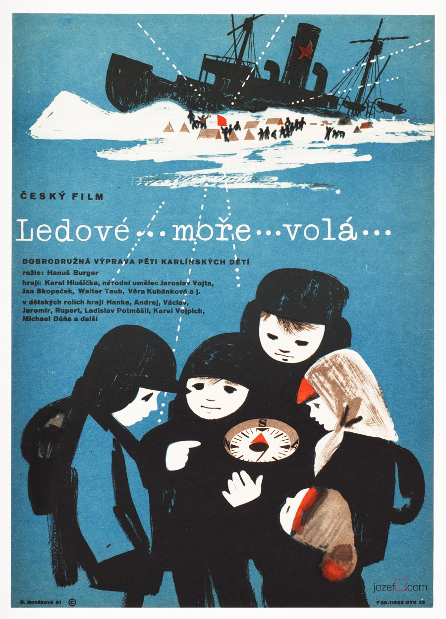 Kids Movie Poster, Northern Sea is Calling, 60s Cinema Art
