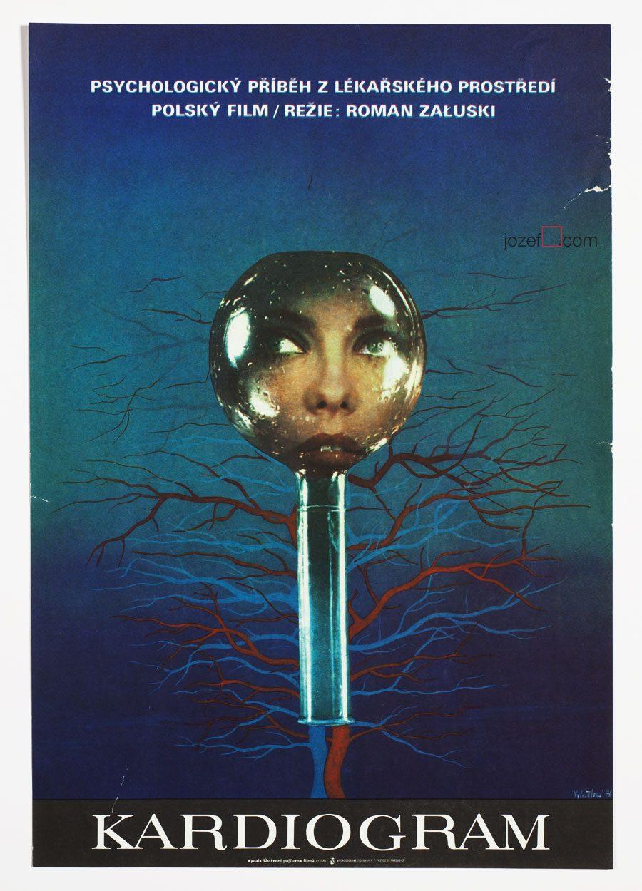 1970s Surreal movie poster, Olga Poláčková-Vyleťalová