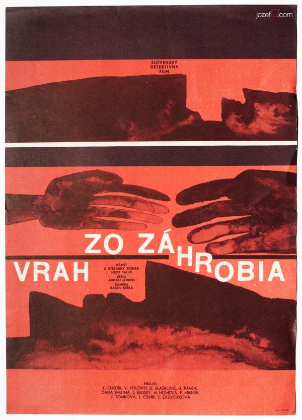 60s Movie Poster, Minimalist Cinema Art, Milan Pasteka