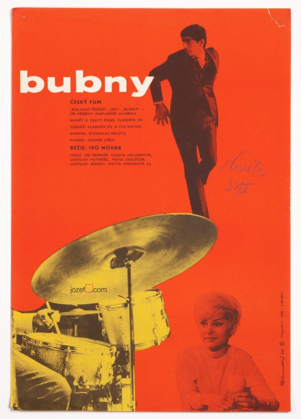 Movie Poster, Drums, Czechoslovak New Wave