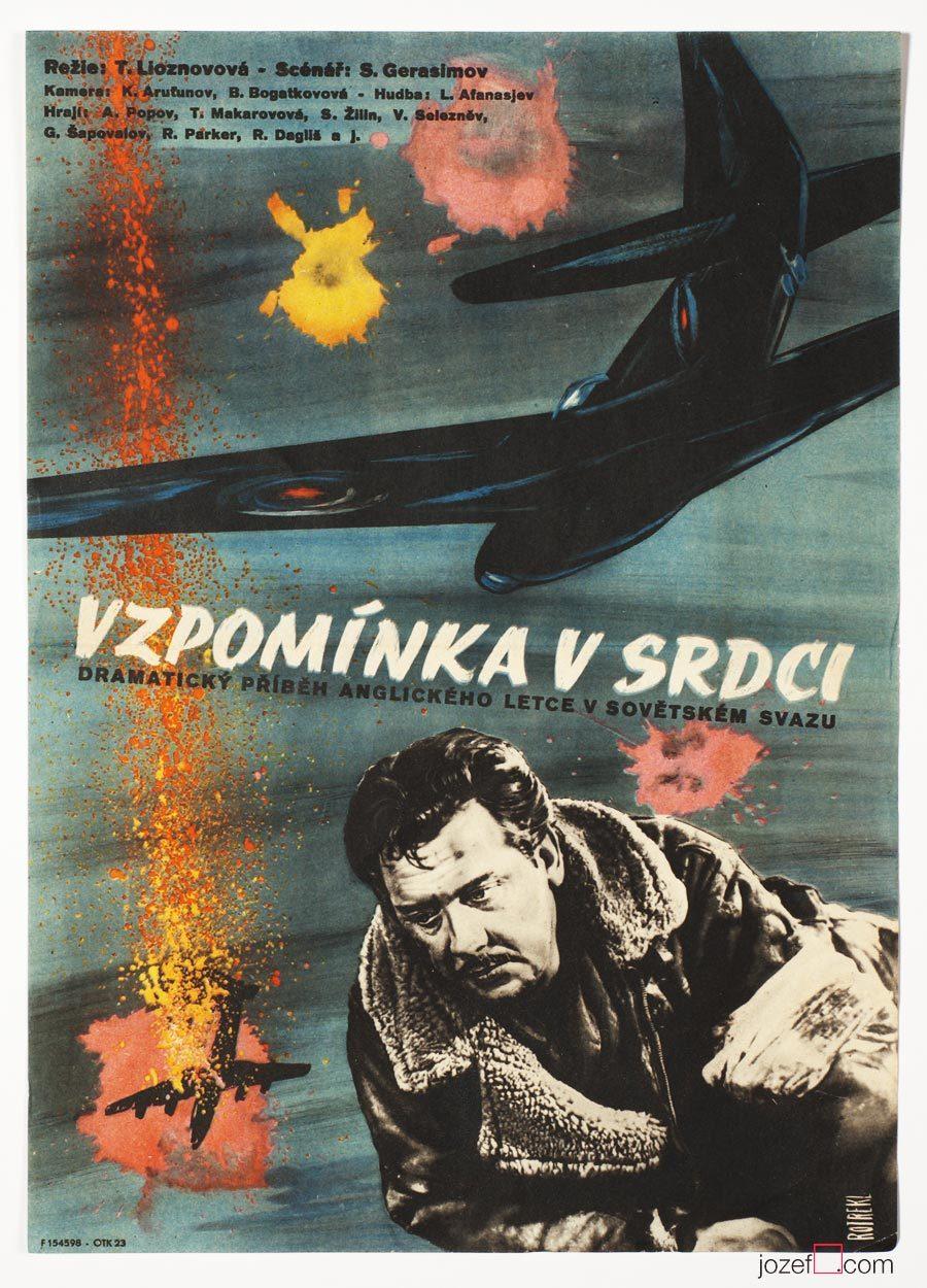 Film Poster, The Memory of the Heart, 50s Cinema Art