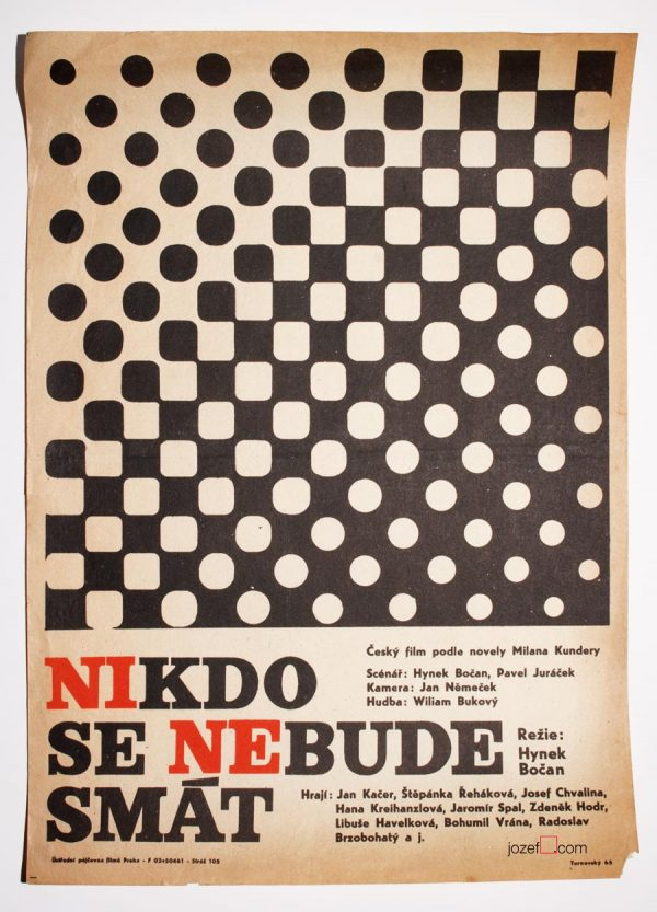 Movie Poster, Nobody Will Laugh, Czechoslovak New Wave Cinema