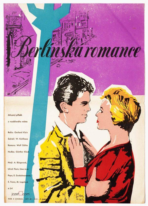 Movie Poster, Berlin Romance, 50s Cinema Art